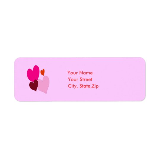 Heart Address label