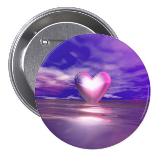 Heart Afloat Pinback Buttons