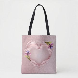 Heart All-Over-Print Tote Bag, Medium