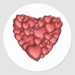 Heart Alot Round Sticker