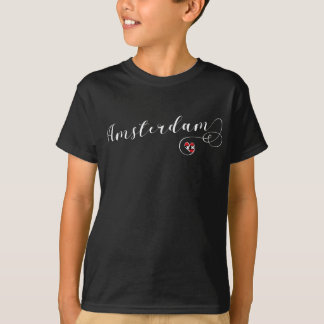 Heart Amsterdam Tee Shirt, Holland Dutch