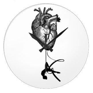 Heart Anatomy - Aerial Acrobat Large Clock