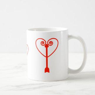 Heart and Arrow Basic White Mug