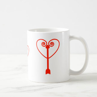 Heart and Arrow Classic White Coffee Mug