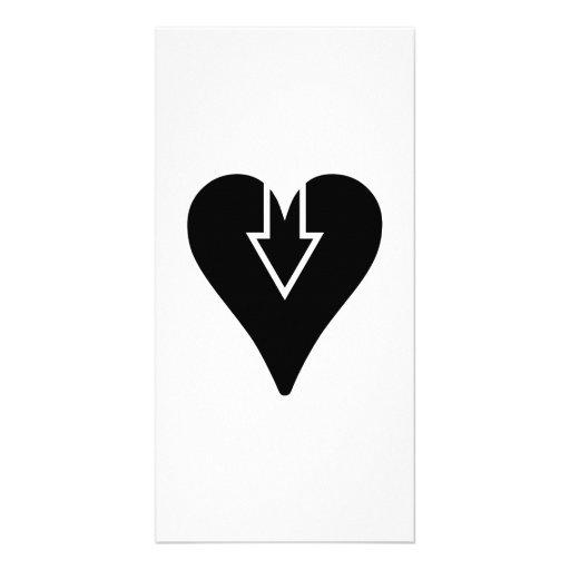 Heart and Arrow Photo Card