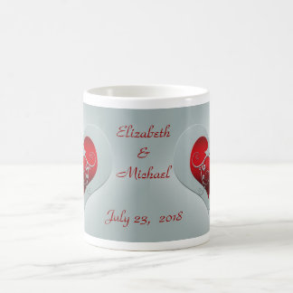 Heart and birds Love wedding mug