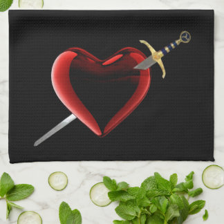 Heart And Dagger Kitchen Towel