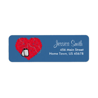 Heart and Dog Tags Return Label