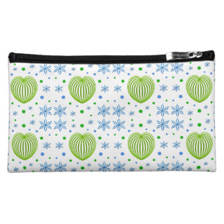 Heart and Flower Medley Makeup Bag