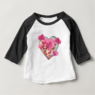 Heart and Flowers Baby T-Shirt