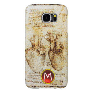 Heart And Its Blood Vessels Parchment Gem Monogram Samsung Galaxy S6 Cases
