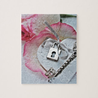 Heart And Key Jigsaw Puzzle
