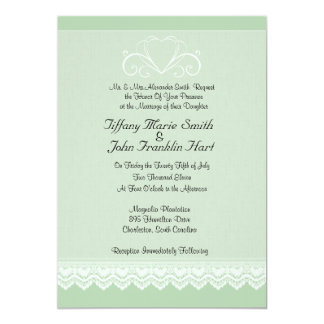 Heart and Lace Wedding Invitations
