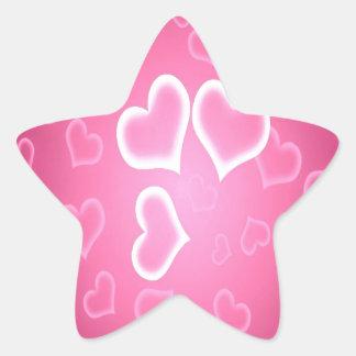 Heart and love star sticker