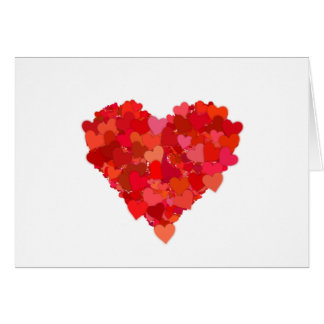 heart and love symbol in red greeting card