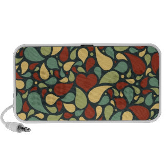 heart and paisley pattern portable speakers