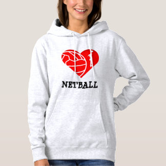 Heart and Player Theme Love Netball Hoodie