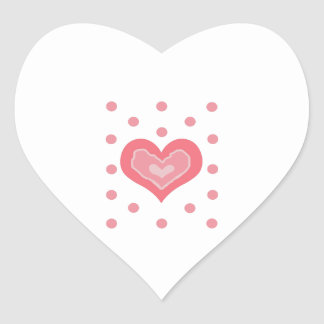 HEART AND POLKA DOTS HEART STICKERS