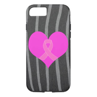 Heart and Ribbon Breast Cancer Charity Design iPhone 8/7 Case