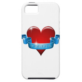 Heart and ribbon remix love iPhone 5 covers