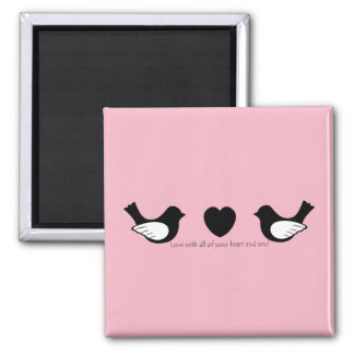 Heart and Soul Square Magnet
