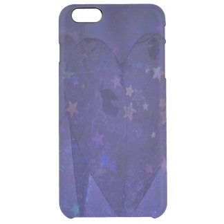 Heart and Stars Clear iPhone 6 Plus Case