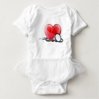 Heart and Stethoscope Concept Baby Bodysuit