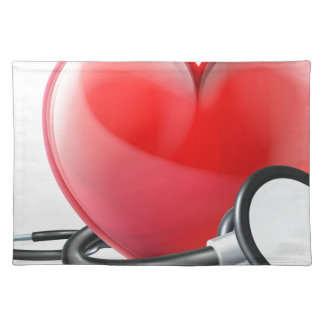Heart and Stethoscope Concept Placemat