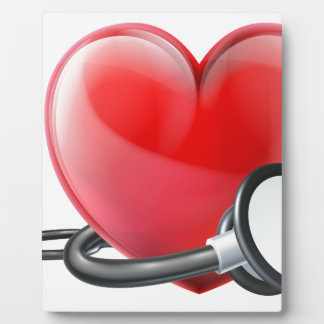 Heart and Stethoscope Concept Plaque