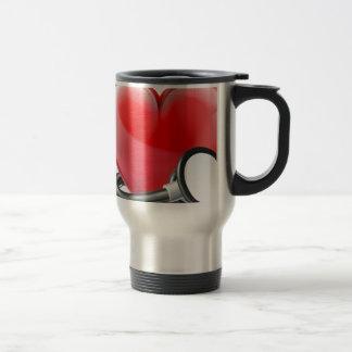 Heart and Stethoscope Concept Travel Mug