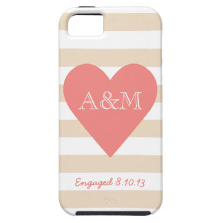 Heart and Stripes Engaged iPhone 5 Case