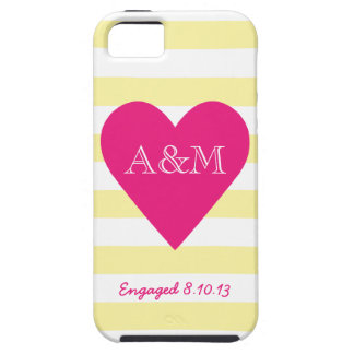 Heart and Stripes Engaged iPhone 5 Cases