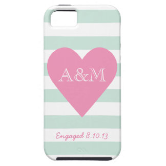 Heart and Stripes Engaged Case For The iPhone 5