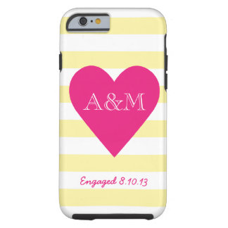 Heart and Stripes Engaged Tough iPhone 6 Case