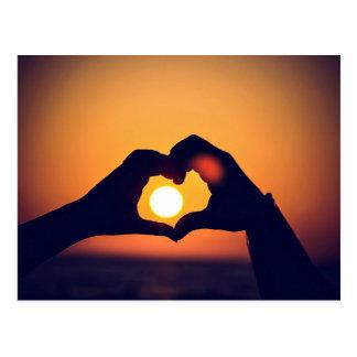 Heart and the Sun Postcard