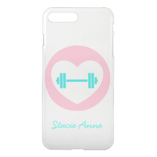 Heart and Weights Gym Clear iPhone case