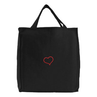 Heart Applique Embroidered Bags