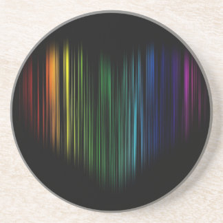 Heart arcoiris - rainbow heart beverage coaster