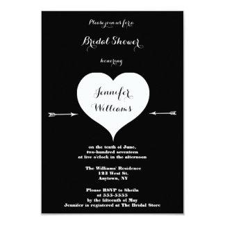 Heart arrow bridal shower invitations