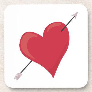 Heart & Arrow Coasters