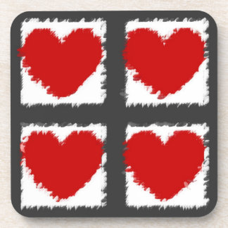 Heart Art Beverage Coasters