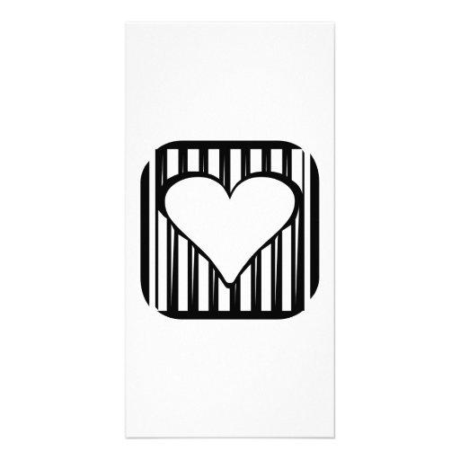 Heart Art Photo Card Template