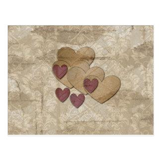 Heart Art   Ruby Cream Postcard