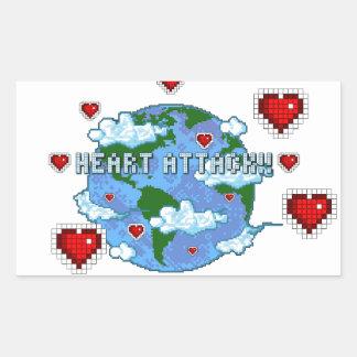 Heart Attack!!! Rectangular Stickers