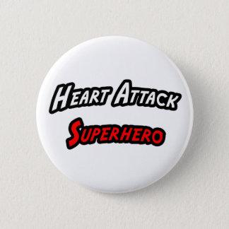 Heart Attack Superhero 6 Cm Round Badge