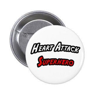 Heart Attack Superhero 6 Cm Round Badge