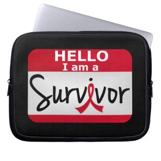 Heart Attack Survivor 24 png Laptop Computer Sleeves