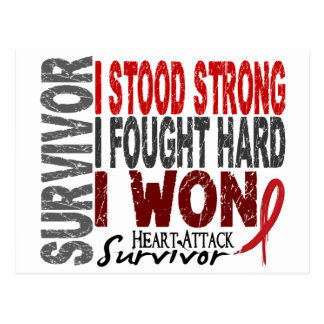 Heart Attack Survivor 4 Heart Disease Postcard