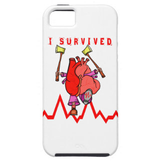 Heart attack survivor Funny Cartoon Case For The iPhone 5