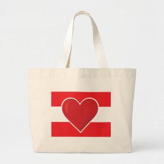 Heart Austria Flag Tote Bags